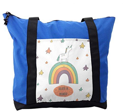Lunarable Kids Shoulder Bag, Believe in Wonder Unicorn Tale, Durable with Zipper by Lunarable