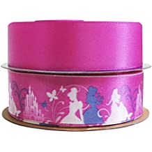 """HipGirl Grosgrain Ribbon Collection Value Pack(7/8"""" Disney Princess Ribbon For Gift Wrapping, Hair Bow Clip Making,Crafting,Sewing,Baby Shower-Cinderella,Belle,Snow White,Aurora,Jasmine,Ariel)"""