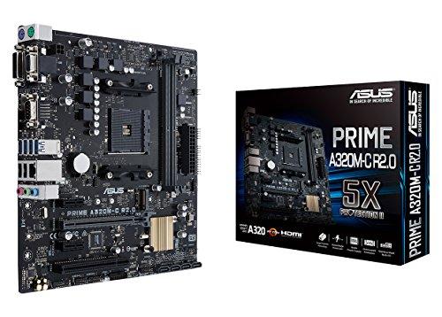 Amd Integrated Motherboard - ASUS PRIME A320M-C R2.0 AMD Ryzen AM4 DDR4 HDMI DVI-D VGA M.2 USB 3.0 Micro-ATX A320 Motherboard