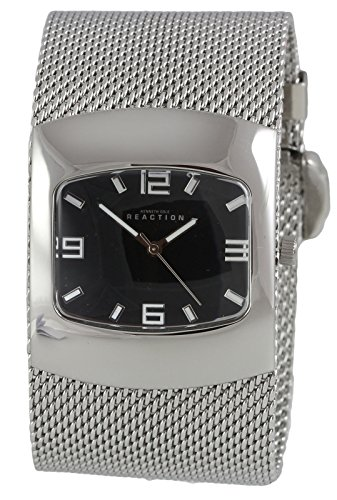 Kenneth Cole Reaction Women's Watch Silver-Tone Steel Mesh Bracelet RK4074