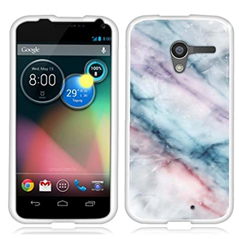 Motorola Moto X Phone XT1058 1st Gen 2013 Case, Fincibo (TM) TPU Silicone Protector Cover Soft Gel Skin, Purple Green Pink (Moto X 1st Gen Phone Covers)