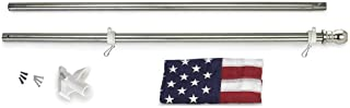 product image for Valley Forge, American Flag Kit, Nylon PERMA-NYL, 3' x 5', 100% Made in USA, All American Series, 6' Stainless Steel Pole and Bracket