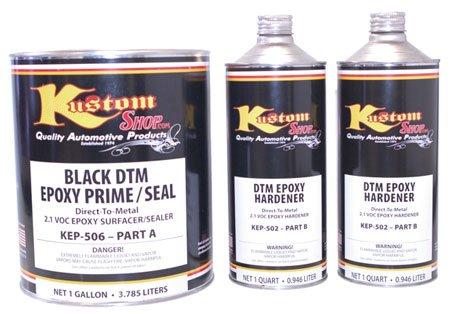 Dtm Epoxy Primer Surfacer (Custom Shop KIT-KEP506-GL Black DTM Epoxy Prime/Sealr-Kt 2.1 VOC)
