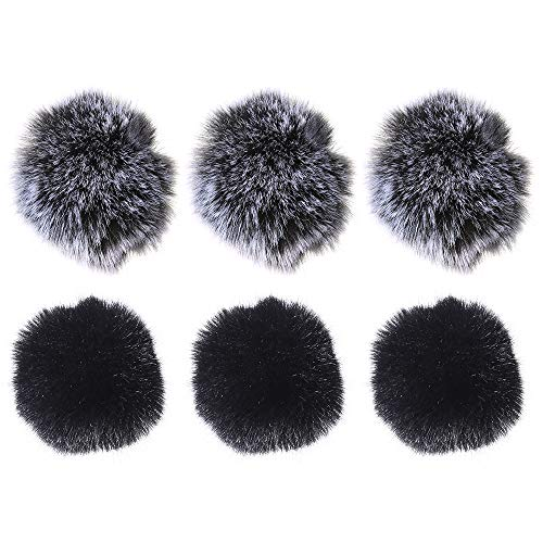 - Auihiay 6 Pack 2 Colors Furry Lavalier Microphone Windscreen Outdoor Mic Muff, Mini Size