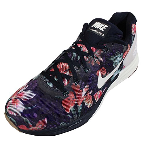 Nike Lunarglide 6 - Zapatillas para hombre Photosynthesis Pack / Dark Obsidian / Summit White / Light