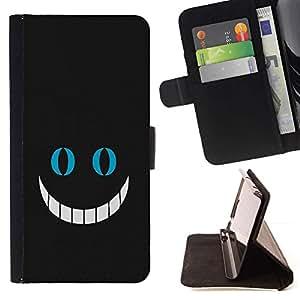 DEVIL CASE - FOR Samsung Galaxy S3 Mini I8190Samsung Galaxy S3 Mini I8190 - Big Smile - Style PU Leather Case Wallet Flip Stand Flap Closure Cover