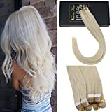 Sunny Tape in Hair Extensions Blonde 100% Remy Human Hair Extensions Adhesive Tape