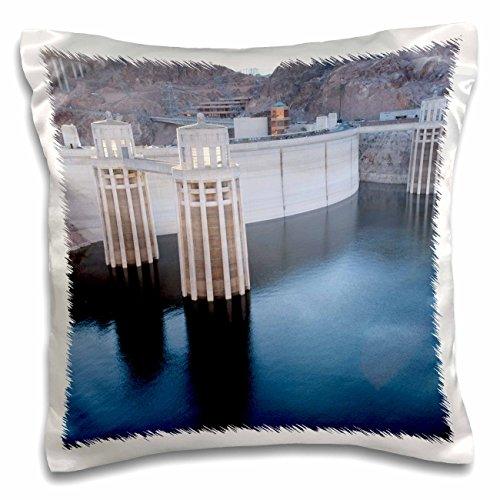Mead Lake Water Level (Danita Delimont - Dams - Low water levels at the Hoover Dam, Lake Mead, NV - US29 MPR0047 - Maresa Pryor - 16x16 inch Pillow Case (pc_92239_1))