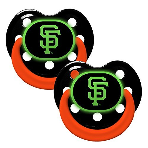 Baby Fanatic Pacifier - Glow In The Dark (2 Pack) - San Francisco Giants by Baby - Francisco In Malls San