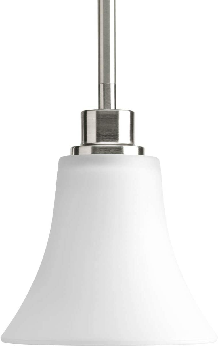 Progress Lighting P5270-09 Joy Collection 1-Light Mini-Pendant, Brushed Nickel