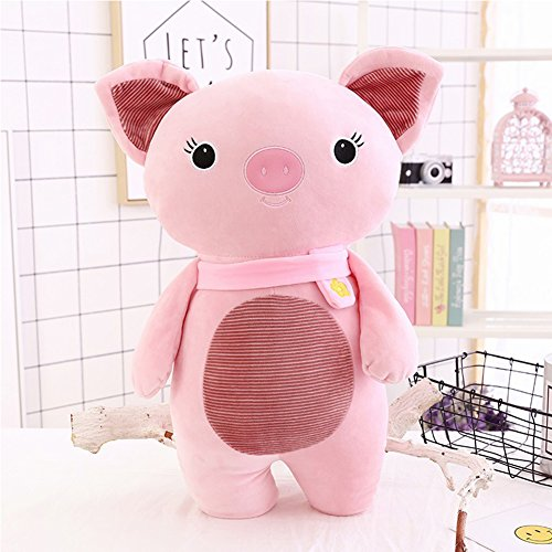 Lanlan Lovely Stuffed Simulation Animal Pillow Soft Plush Doll Toy Birthday Present Holiday Gift for Boys and Girls Pink piglets,30cm