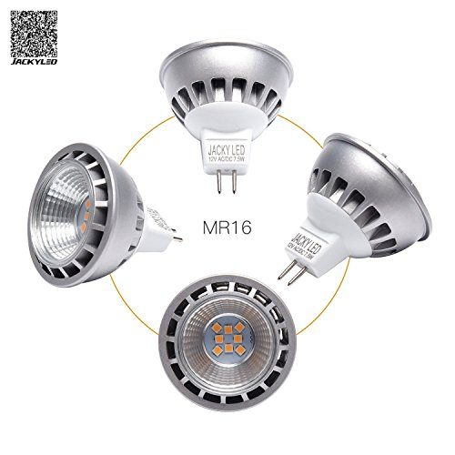 Led Shop Lights 10 Pack: 10-Pack MR16 7.5W LED Bulb JACKYLED DC12V Warm White 3000K