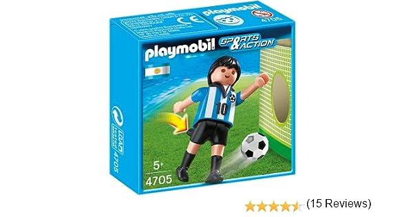 Playmobil Fútbol - Fútbol: Jugador Argentina (4705): Amazon.es: Juguetes y juegos