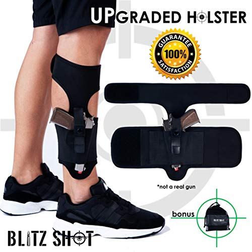 Ankle Holster for Concealed Carry Universal Ankle Holster 2xStronger Velcro for Men and Women  Ankle Holster for Glock 43 42 36 26 19, Smith&Wesson M&P Shield Bodyguard, Ruger LCP LC9, Sig Sauer (Best Concealed Weapon For Ladies)