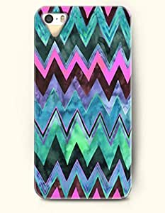 OOFIT Aztec Indian Chevron Zigzag Pattern Hard Case for Apple iPhone 4 4S Colorful Indian Triangles Zig Zag