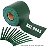 Sichtschutz Guch Nich für Doppelstabmatten, Blichdicht, Zaun, Zäune, Gartenzaun 65m RAL6005/grün