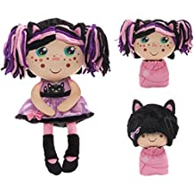 """Jay at Play 12"""" Flip Zee Girls - ZURI CAT - The Baby that Flips For You! Watch Her Grow From Baby to Girl! See Her Baby Eyes Turn Into a Magical Freckie Surprise!"""