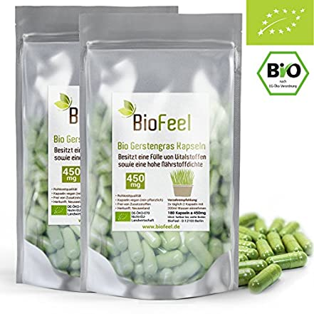 BioFeel Bio Gerstengras Kapseln - 360Stk
