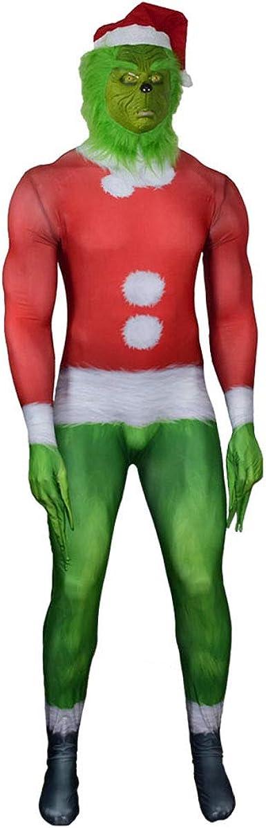 goodrui Niño Adulto Cómo The Grinch Robó el Disfraz de Navidad ...