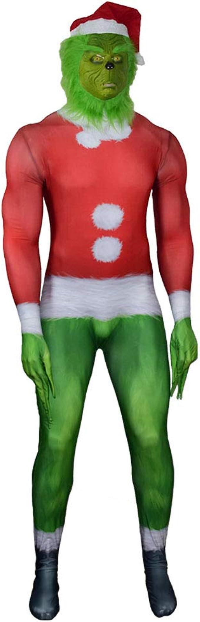 OkanemoT Disfraz de Grinch de Navidad Cosplay Máscara de Monstruo ...