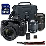 Canon EOS 80D DSLR Camera Bundle with Canon EF-S 18-55mm f/3.5-5.6 IS STM Lens + Tamron Zoom Telephoto AF 70-300mm Autofocus + 32 GB Memory Card + Camera Case