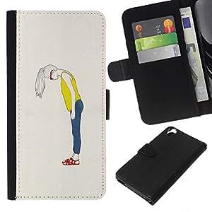 Stuss Case / Funda Carcasa PU de Cuero - Hipster Moda Dise?o minimalista Gafas - HTC Desire 820