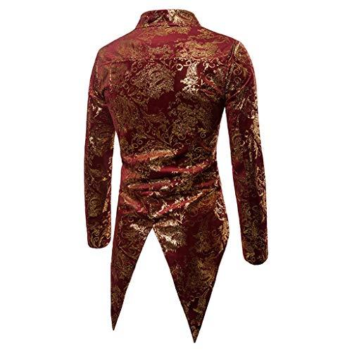 Dolcevita Distintivo Cappotto Maglione G Lunghe Sweatshirt Cappuccio Tops Cerniera Hoodie Maniche Uomo Classico Con Camicetta Qinsling Felpa Elegante Rosso Inverno Collo Z5BnA75qF