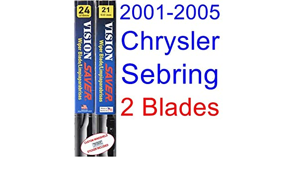 Amazon.com: 2001-2005 Chrysler Sebring Coupe Replacement Wiper Blade Set/Kit (Set of 2 Blades) (Saver Automotive Products-Vision Saver) (2002,2003,2004): ...
