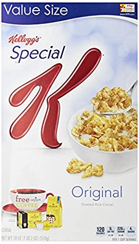 Special K Cereal, Original, 18-Ounce Boxes (Pack of 3) (Get Special)