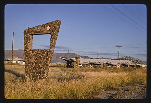 16 x 24 Gallery Wrapped Framed Art Canvas Print of Old Motel Sign Southeast of Van Horn, Texas 1993 Roadside Americana Ready to Hang 87a ()