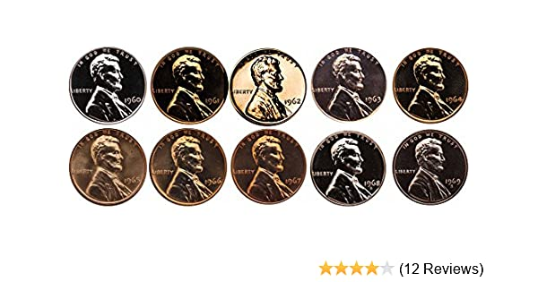 1980-1989 Philadelphia Memorial Pennies Run Lot 10 Coins