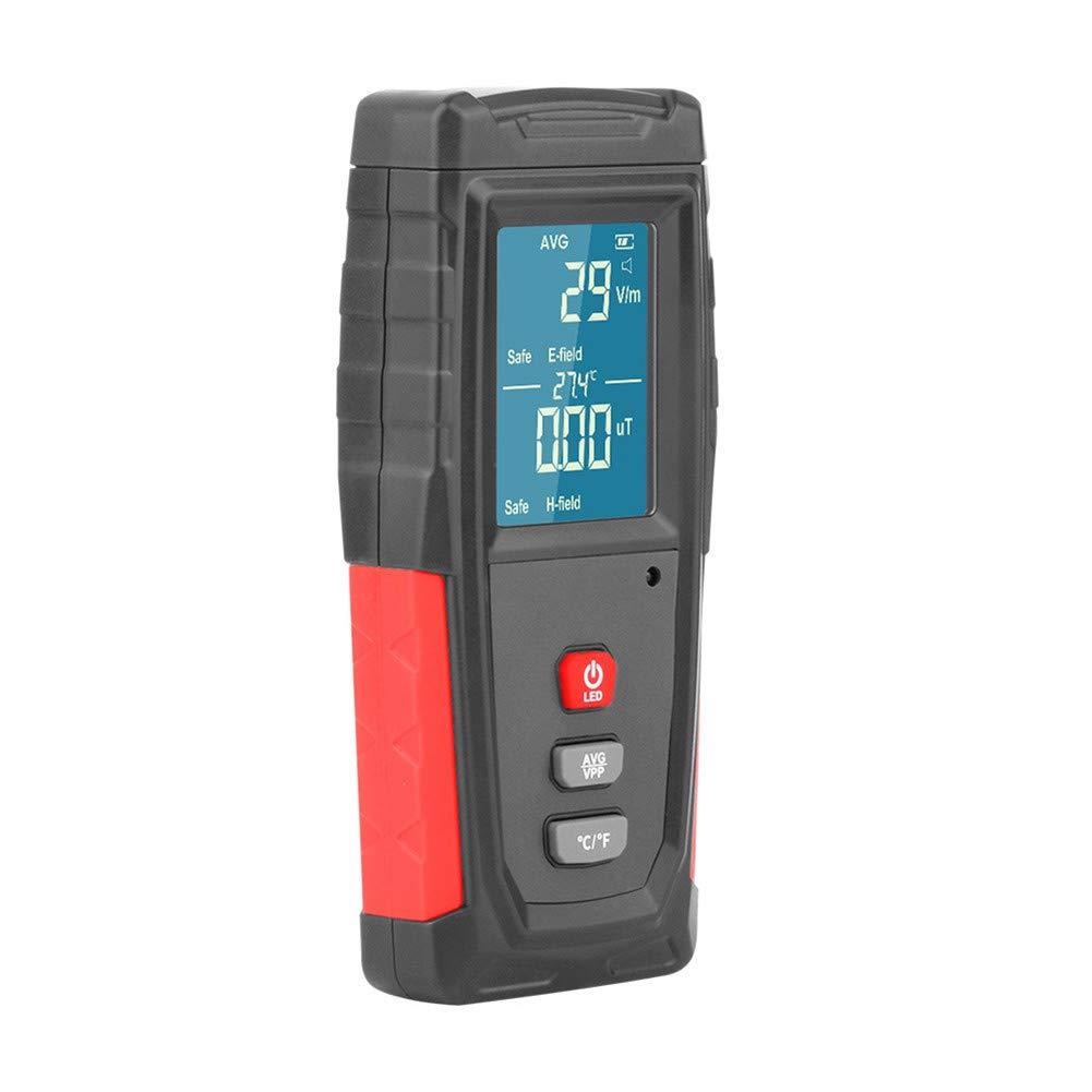 avec Alarme Automatique Xbnmw Le rayonnement /électromagn/étique testeur num/érique de Poche LCD EMF D/étecteur dosim/ètre testeur Compteur EMF m/ètres