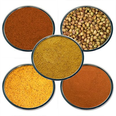 Chef Cherie's Indian Spice Gift Set #1 - Contains 5 2 oz. Tins