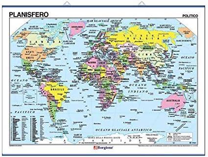 Mappamondo Cartina Geografica.Borgione Planisfero Carta Geografica Murale Amazon It Giochi E Giocattoli