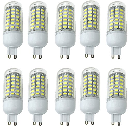 Aoxdi 10X LED 10W Ampoules G9 LED, 69X5730 LED SMD Lampes, Blanc Froid , LED G9 Lumineux AC220-240V
