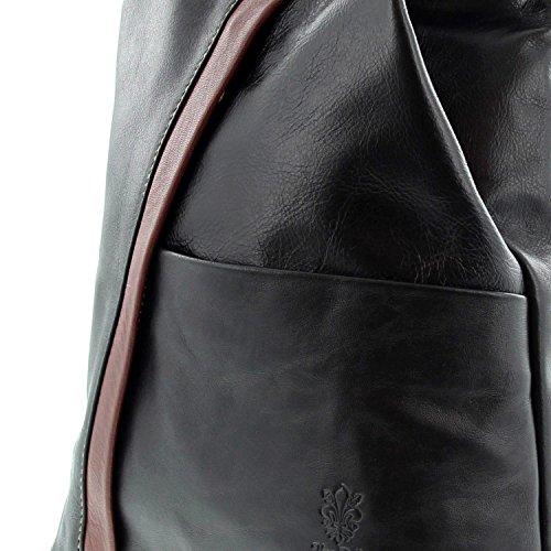 negro Bolso per marrón IO le Borsetta Mujer IO Icone® mochila MIO vYgBztqnw