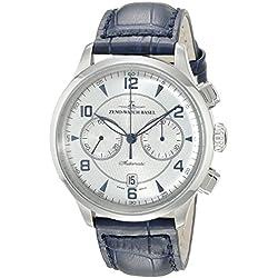 Zeno Men's 6302BVD-G3 Retro Tre Silver Chronograph Dial Watch