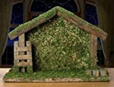 """Wooden Stable - Nativity Creche 9"""" for Christmas Manger Display - Nativity Scene Accessory"""