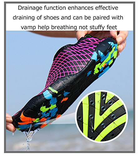 xinbeauty Wasserschuhe Barfuß Schnelltrocknend Schwimmschuhe Badeschuhe Aqua Schuhe Slip on Yoga Haut Schuhe für Damen Herren