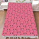 iPrint Bed Skirt Cover 3D Print,Little Pigs Eyes Noses Crowd Herd of Animals,Best Modern Style Bed Skirt for Men and Women by 70.9''x94.5''