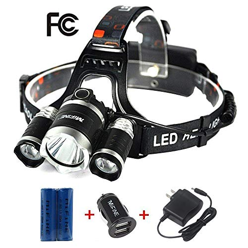 Mifine LED Headlamp - 4 Modes Ultra-Bright Outdoor Headlight...