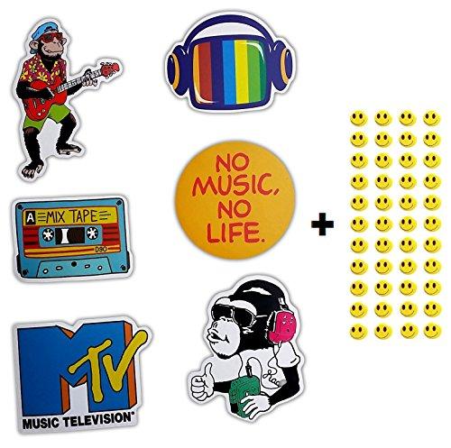 6-skateboard-vinyl-stickers-you-pick-laptop-ipad-luggage-helmet-bike-car-43-free-smiley-stickers-mus