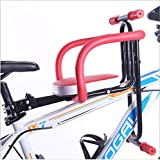 WSBBQ Child Bike Seat, Quick Release Front Mount Child Bicycle Seat Kids Saddle Electric Bicycle Bike Children Safety Front Seat Saddle Cushion,1Red