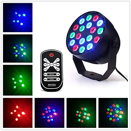 Amyove 18W 18LEDs Sound Sensor Projection Light Colourful Stage Lamp for Halloween Christmas Party Bar Home Decoration,UK Plug