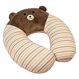 Wishpets 11.5'' Bear U-Shaped Child Memory Foam Pillow