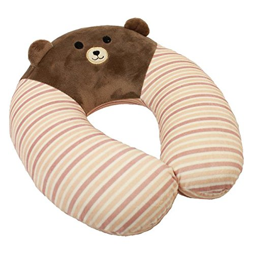 Wishpets 11.5'' Bear U-Shaped Child Memory Foam Pillow