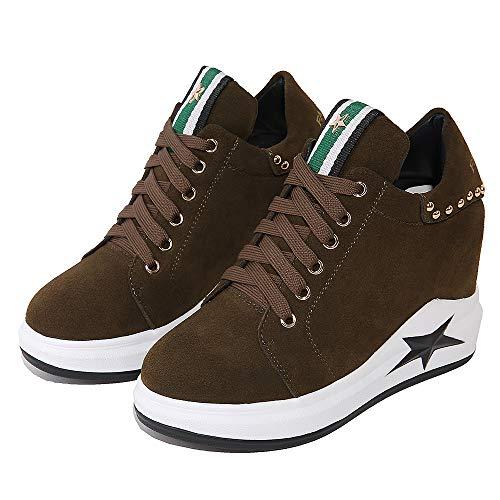 Plats Sport Talons de Kaki décontractées Chaussures à q5IXOTxw