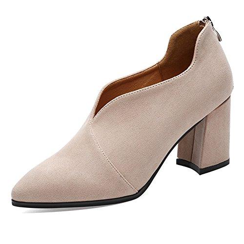 1cfd6cf2 Zapatos de mujer de cuero Primavera Otoño Botas de moda Comfort Oxfords  Zapatos de caminar Frosted ...