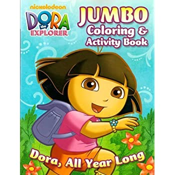 Dora The Explorer Jumbo Coloring And Activity Book All Year Long 96