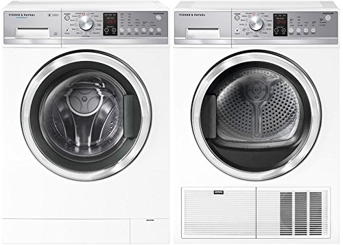 Fisher Paykel Front Load Compact WH2424P1 24″ Washer with DE4024P1 24″ Electric Dryer Compact Laundry Pair in White